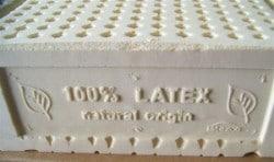 A 100% natural latex mattress