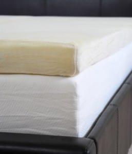 A thick mattress topper