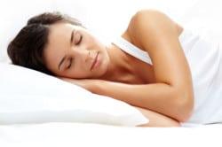 A sound asleep woman