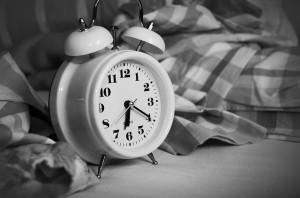 An alarm clock indicating sleep habits