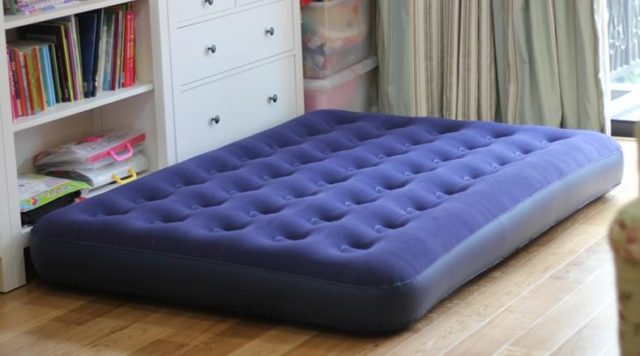 can you put an air mattress on a bed frame