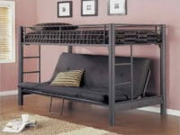 Metal Loft Bed With Couch Underneath