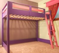 Wood Loft Bed With Nothing Underneath
