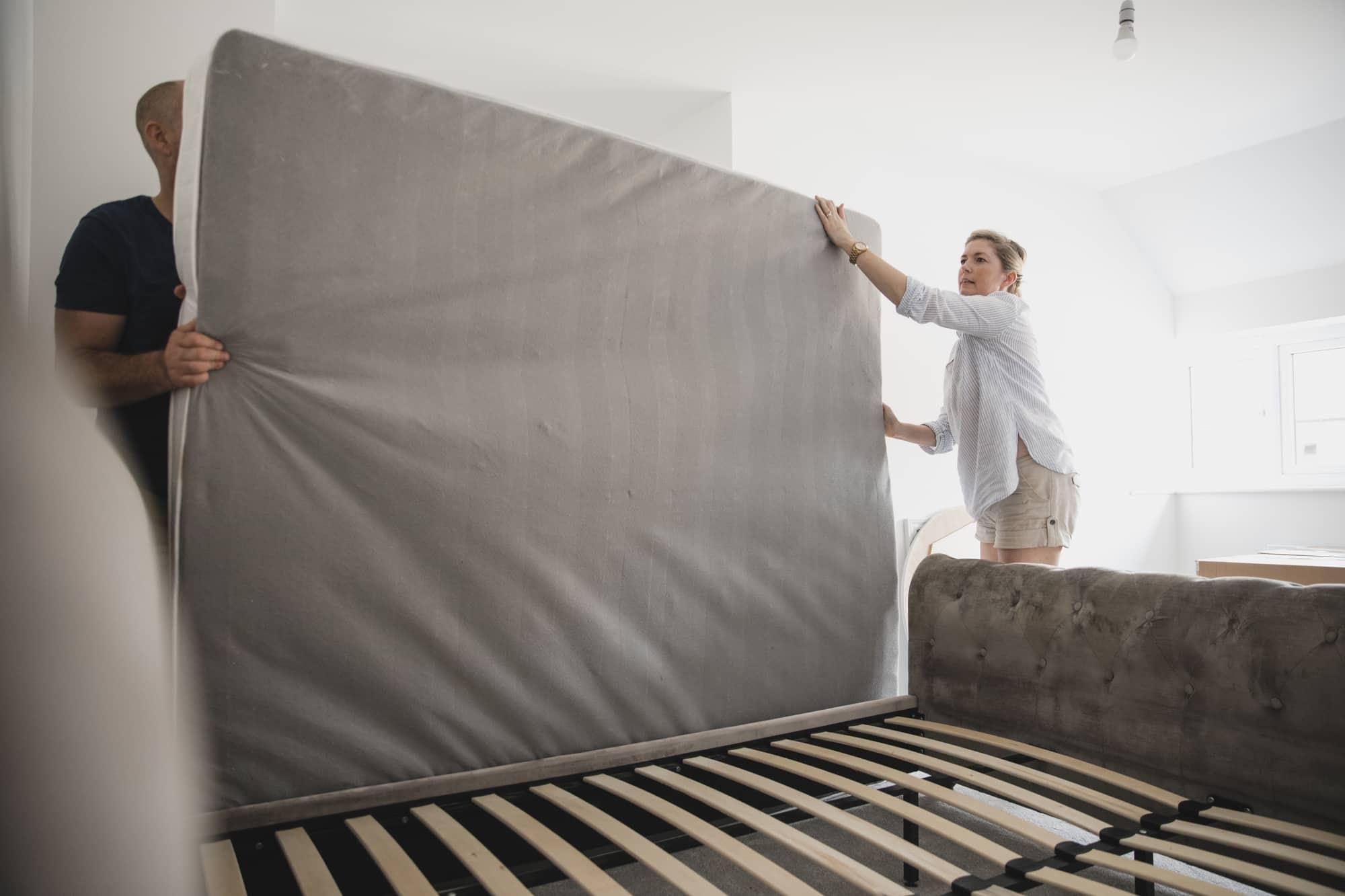 transporting a mattress