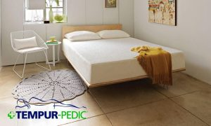 A Tempur-Pedic mattress in a modern bedroom