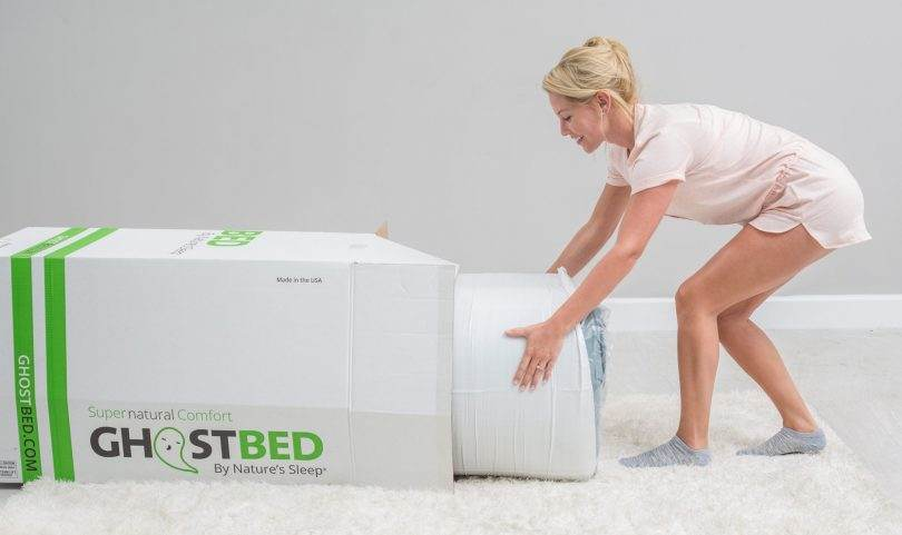 Ghostbed mattress packaging