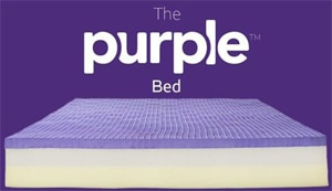 A picture of the Purple Bed without a cover on it