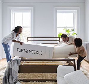 T&N placed on a slatted bed frame