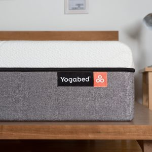 A corner view of the Yogabed