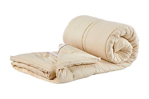 Sleep & Beyond 60 by 80-Inch Organic Merino Wool Mattress Topper