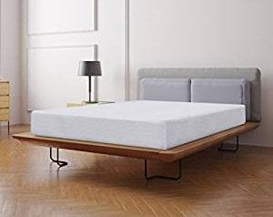 A soft mattress on a platform bed