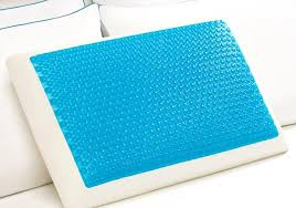 A cooling pillow with a gel pad layer