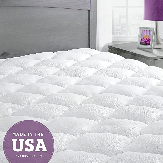 ExceptionalSheets Bamboo Cooling Mattress Pad with Fitted Skirt