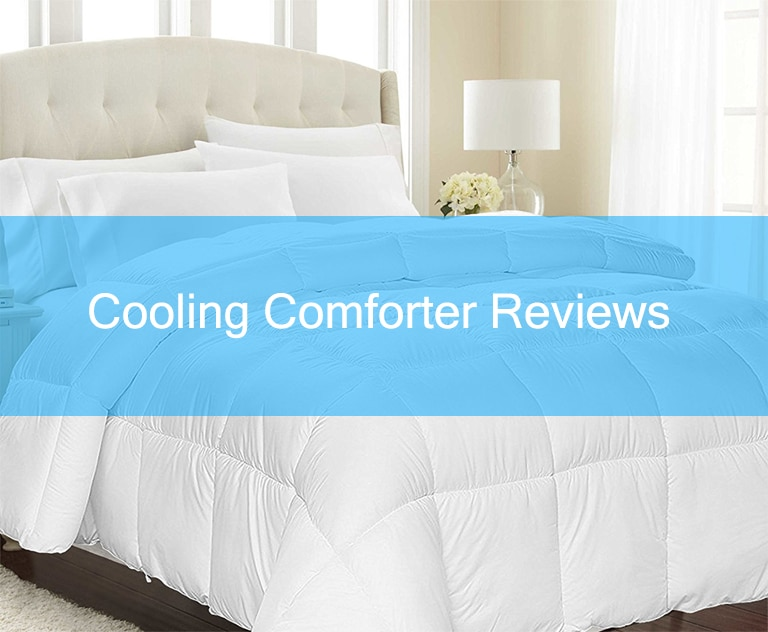 A white cooling blanket on a beautiful bed