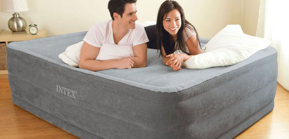Couple on an airbed