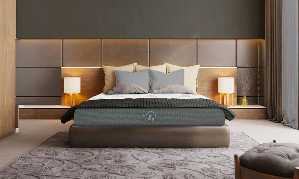 A queen size puffy mattress