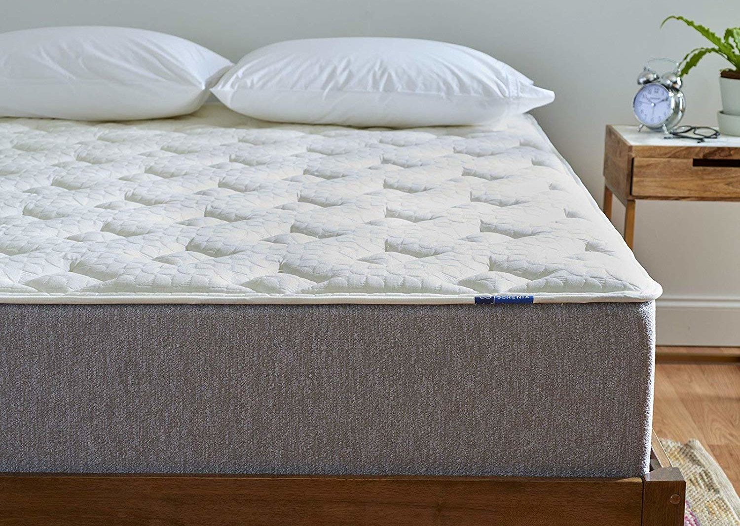 "Serenia Sleep 12"" Quilted Sculpted Gel Memory Foam"