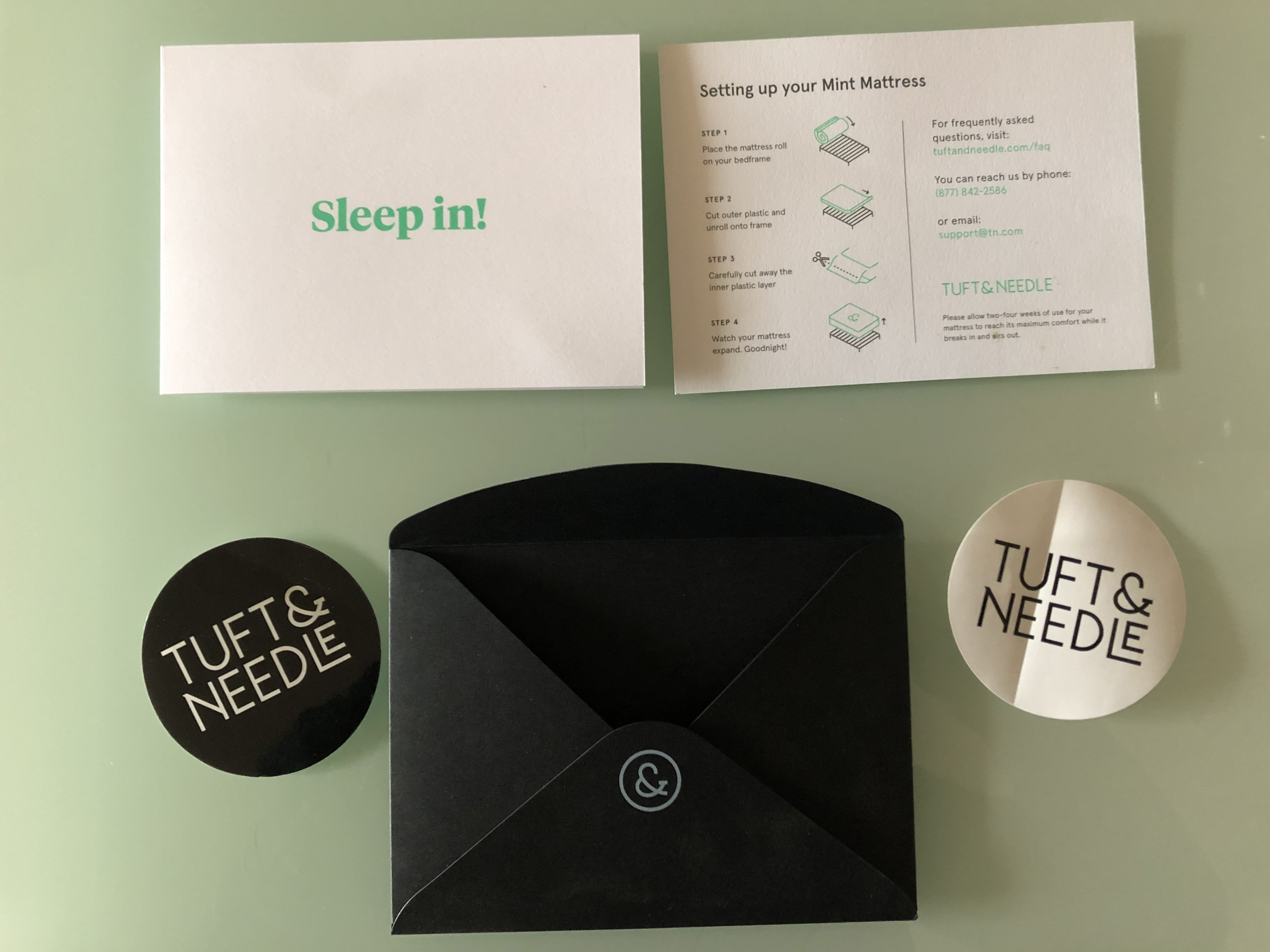 Setting up the Tuft and Needle Mint mattress